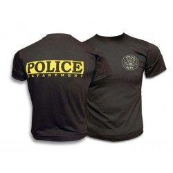 Camiseta M/C POLICE.Color:NEGRA.