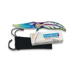 Navaja Rainbow pluma. Hoja:7.2 cm