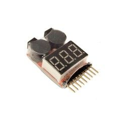 TESTER & LOW LIPO VOLTAGE BUZZER 1S-8S DRAGONPRO DP-VY001
