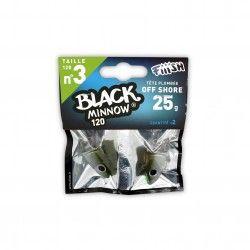 Black Minnow Nº3 Jig heard 2 Udes. Off Shore - 25g - Kaki
