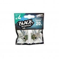 Black Minnow Nº4 Jig heard 2 Udes. Shore - 20g - Kaki
