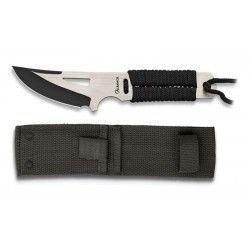 cuchillo albainox negro/satin. total 19