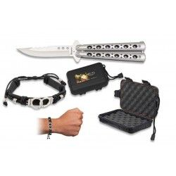 Set: Navaja abanico+caja+pulsera