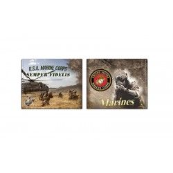 Cartera impresa Marines
