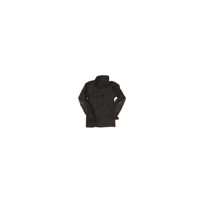 Camisa Negra Con Coderas Miltec