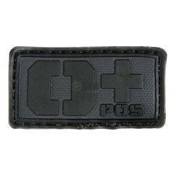 PARCHE PVC TIPO SANGUINEO 0+ BLACK EMERSON